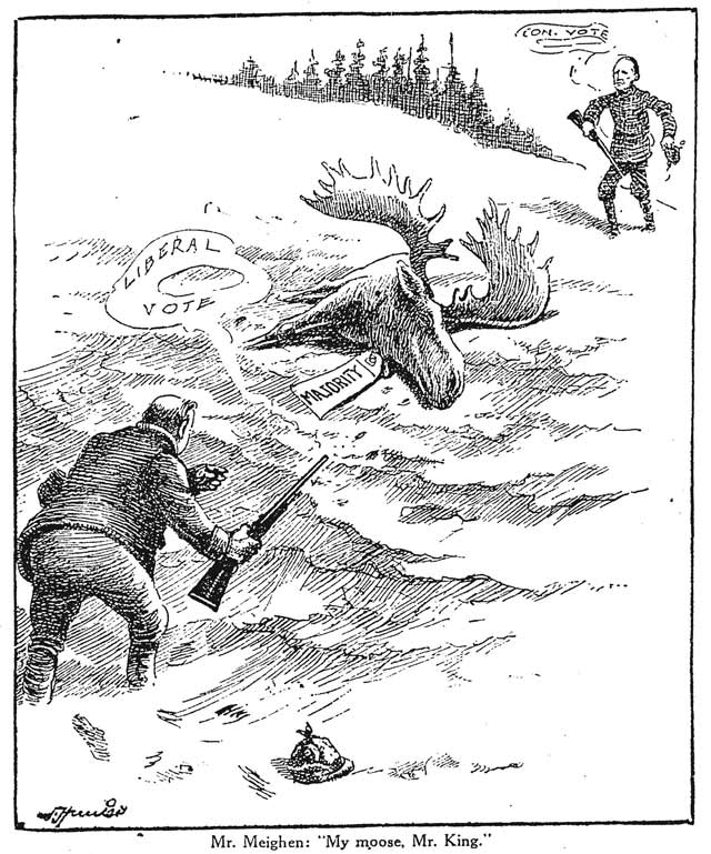 Cartoon, Toronto Star, October 30, 1925