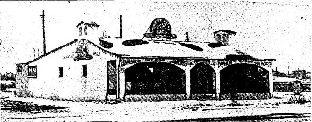 Exterior of the Brown Derby in early 1935 from the Globe (February 18, 1935)