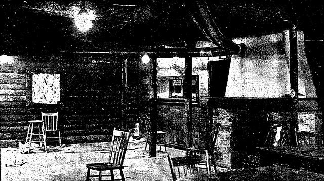 Globe (February 18, 1935) Interior of the Brown Derby, as seen after a police raid in early 1935  From the Globe (February 18, 1935)