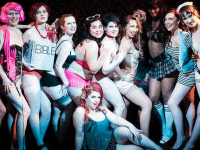 A group of Toronto School of Burlesque grads, courtesy of the school's FB page.