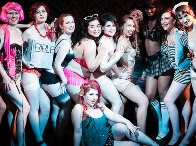 A group of Toronto School of Burlesque grads, courtesy of the school's FB page