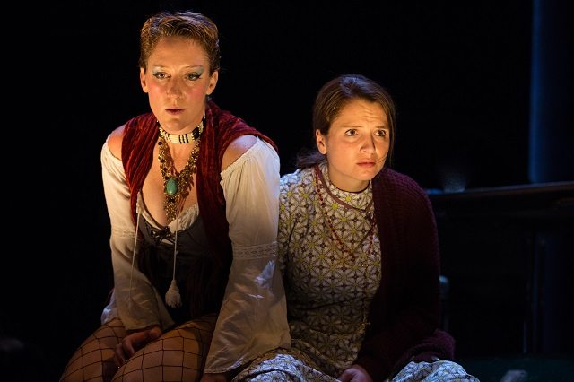 Suzanne Roberts Smith, left, as Carmen, and Geneviève Dufour, as Manon, deal with their family's tragic past in Soulpepper's new production of Michel Tremblay's Yours Forever, Marie Lou  Photo by Cylla von Tiedemann