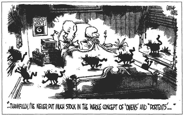 Cartoon by Brian Gable, Globe and Mail, September 6, 1990