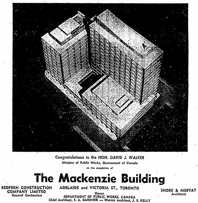 Detail from advertisement in the Globe and Mail (April 8, 1960)