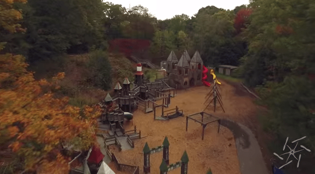 "Screenshot from the video ""High Park Autumn in Toronto"" by Ontaerial"
