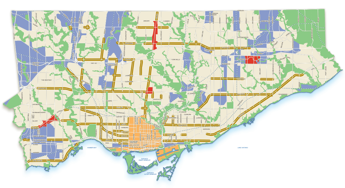 Map from the City of Toronto Official Plan Review, 2010