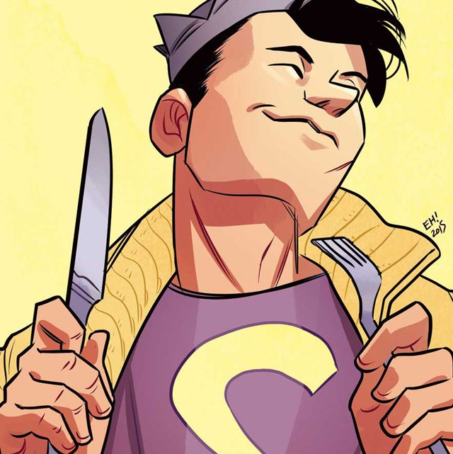 Does this nose look familiar to you? Detail from Jughead #1 cover by Erica Henderson