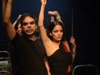 Ankur Vikal, left, and Priyanka Bose in a scene from Nirbhaya. Photo by William Burdett Coutts.