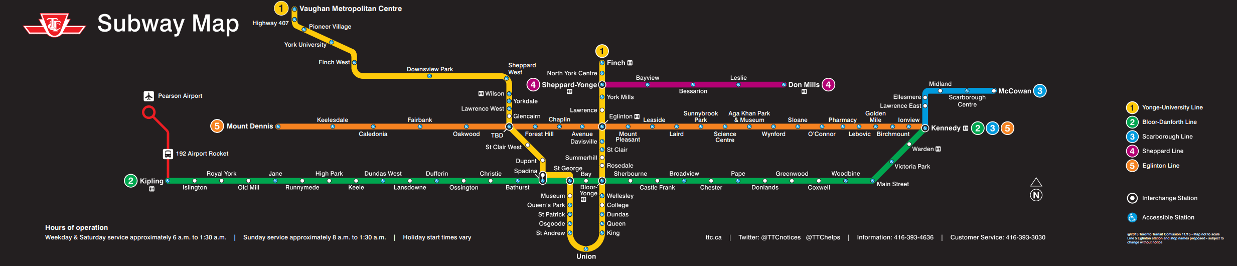 What your TTC map could look like in 2021 (Finch LRT not included)  Image from the TTC agenda for November 23 [PDF, pp  12]