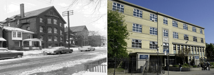 From the City website, a comparison of the two Seaton Houses