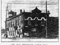 Brockton (Town) Hall, a year before it was sold by the City of Toronto.  The Toronto Star, March 14, 1911.