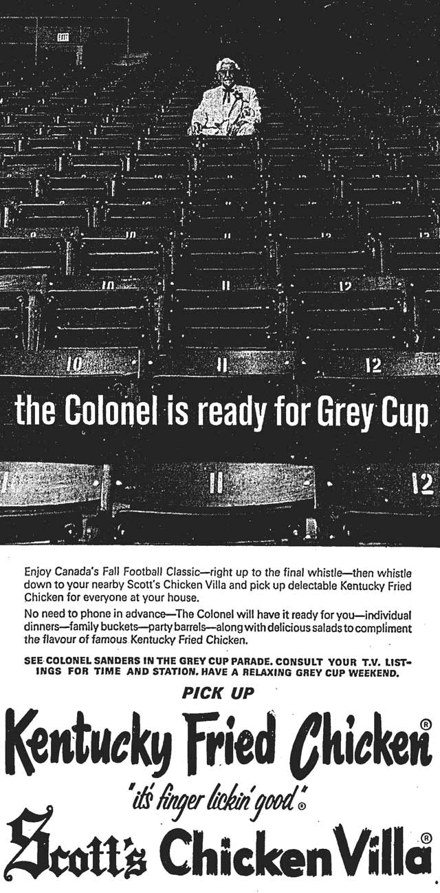 Advertisement, the Globe and Mail, December 2, 1967