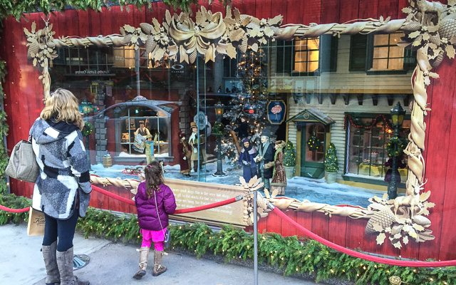 Christmas Window Displays.Shaping Toronto Christmas Window Displays