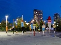 Fishing bobbers by Douglas Coupland at Canoe Landing Park. Photo credit: Grant D via Torontoist Flickr Group