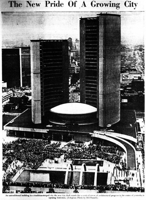 The opening of new City Hall in 1965  Source: the Telegram, September 14, 1965