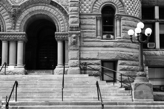 Steps of Old City Hall  Photo by Allie Andreoff from the Torontoist Flickr Pool