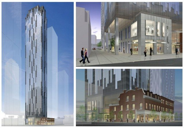 Proposed plans for 8 Cumberland, in Yorkville  Photo via the City of Toronto