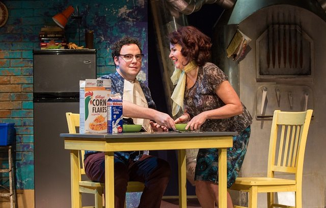 Gregory Prest and Raquel Duffy play a young married couple dealing with incompatibility in The Anger in Ernest and Ernestine  Photo by Cylla von Tiedemann