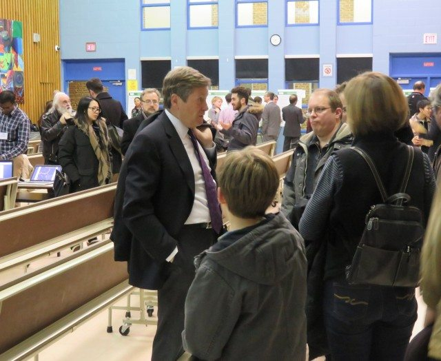 John Tory at Transit meeting