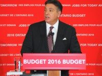 Photo of Finance Minister Charles Sousa by David Hains