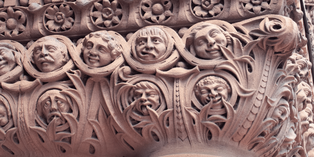 Lennox's caricatures carved in Old City Hall  Photo by edk7 from the Torontoist Flickr Pool