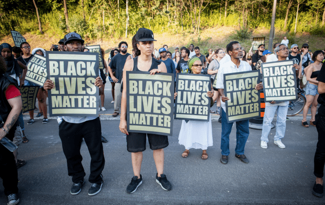 Black Lives Matter protest on Allen Road  Photo by George Talusan from the Torontoist Flickr Pool