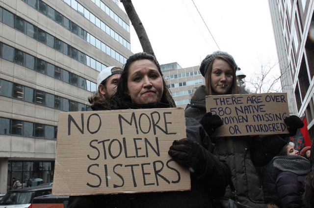 A 2013 vigil for murdered and missing Indigenous women  Photo by John Tavares from the Torontoist Flickr Pool