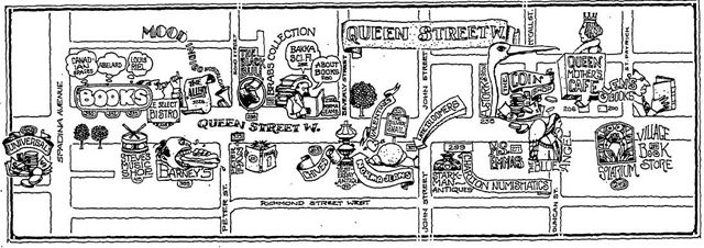 Map of Queen West, Toronto Star, February 2, 1979