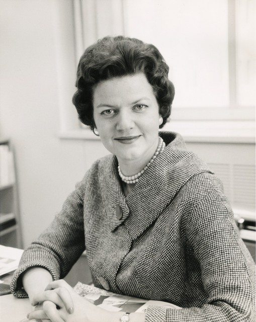 CROPPED Doris Anderson at her desk as Chatelaine editor  June 1962 Vol 25 Issue 6 P  1