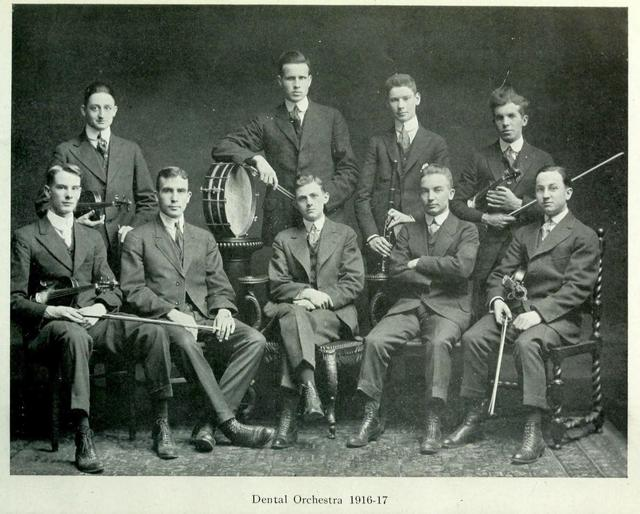 The RCDS Dental Orchestra, 1916—1917.  The Hya Yaka, May 1917.