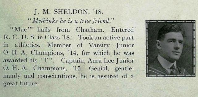 Mac Sheldon's graduation photo.  The Hya Yaka, May 1917.