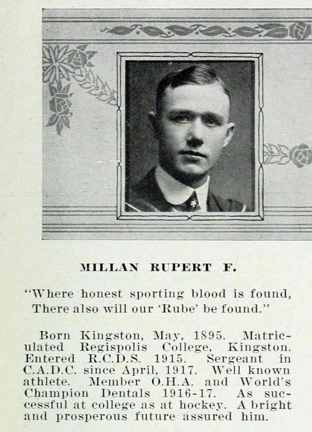 Rupert Millan's graduation photo.  The Hya Yaka, May 1919.