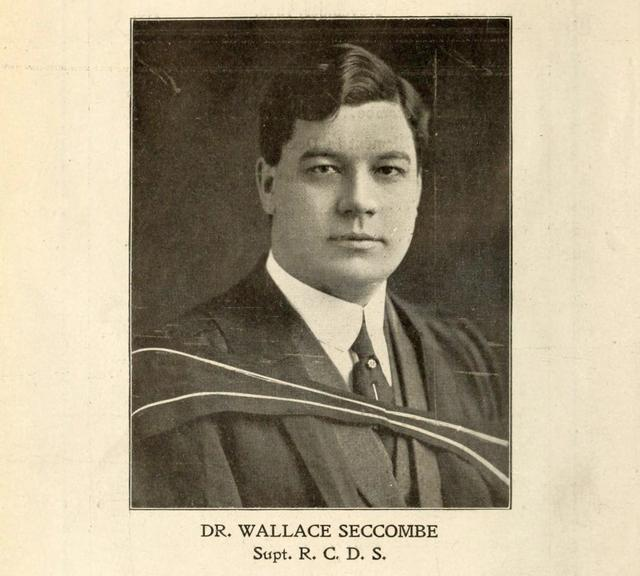 Dr. Wallace Seccombe, who held the Allan Cup until the Dentals returned.  The Hya Yaka, May 1919.