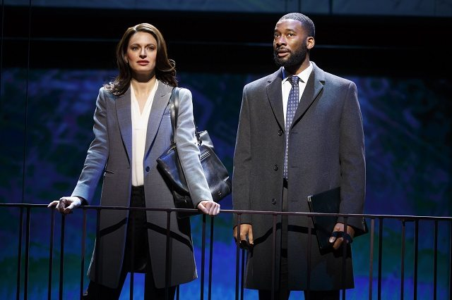 Jackie Burns and Daren A. Herbert play city planners with secret feelings for each other in  If/Then. Photo by Joan Marcus.