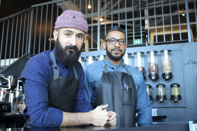 Mohammed Binyahya (left) and Tariq Al Barwani, the owners of Plentea, a tea bar that opened in Parkdale two months ago.