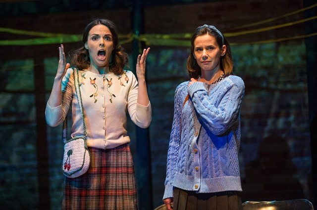 Sarah Wilson, left, as Susan and Michelle Monteith as Heidi in Soulpepper Theatre's revival of Wendy Wasserstein's hit play The Heidi Chronicles. Photo by Cylla von Tiedemann.
