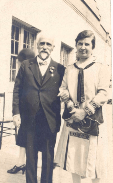 Edmund Scheuer and Ida Siegel, two of the founding members of the Federation of Jewish Philanthropies, pictured at the Canadian Jewish Farm School in Georgetown, Ontario, circa 1927. Photo courtesy of the Ontario Jewish Archives Fonds 15 File 37 Item 24.