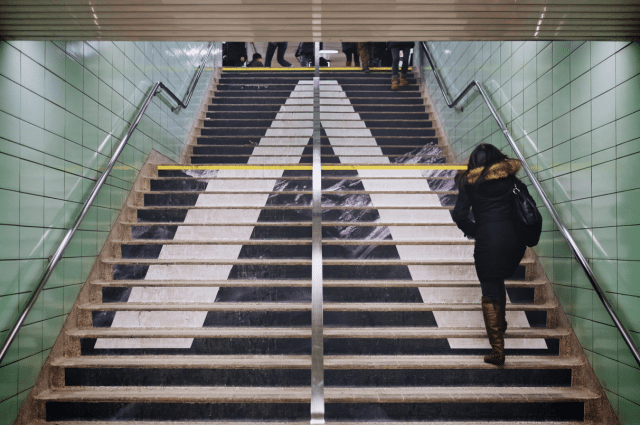Stairs at St. George Station. Photo by Jason Cook from the Torontoist Flickr Pool.