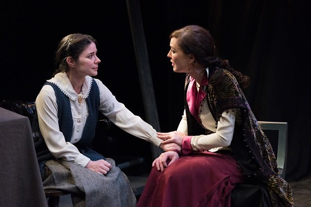 Marla McLean as Sophia Alexandrovna (Sonya) and Moya O'Connell as Yelena Andreyevna in Uncle Vanya. Photo by Emily Cooper.