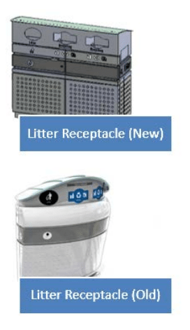 New vs. old Astral bins. Source: City of Toronto [PDF].