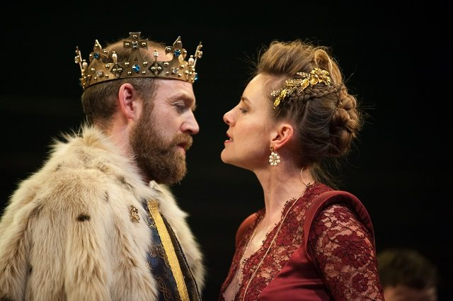 Matthew Pidgeon as James III and Malin Crépin as Queen Margaret in the final installment of The James Plays Trilogy, the big theatrical event at this year's Luminato Festival. Photo by Tommy Ga-Ken Wan.