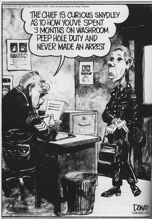Cartoon by Andy Donato, reprinted in the August 1979 edition of News & Views.