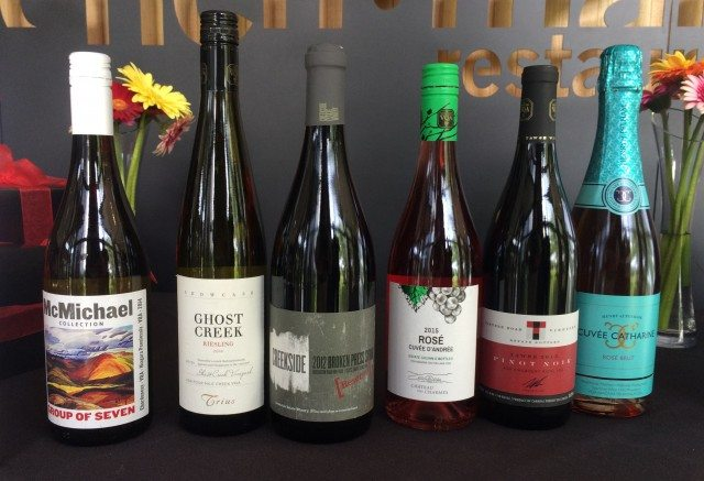 A selection of Gold Medal winners for the 2015 Ontario Wine Awards