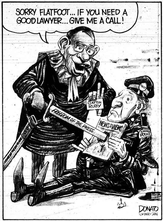 Cartoon by Andy Donato, Toronto Sun, March 29, 1979.