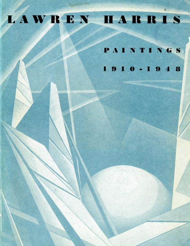 Cover of the guide to the 1948 exhibition of Lawren Harris's work.