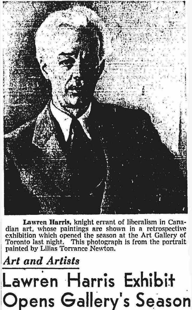 From the Globe and Mail, October 16, 1948.