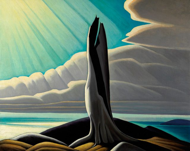 Lawren Harris, North Shore, Lake Superior, 1926. Oil on canvas. 102.2 x 127.3 cm. National Gallery of Canada. Purchased 1930. © 2016 Estate of Lawren S. Harris. Image courtesy of the Art Gallery of Ontario.