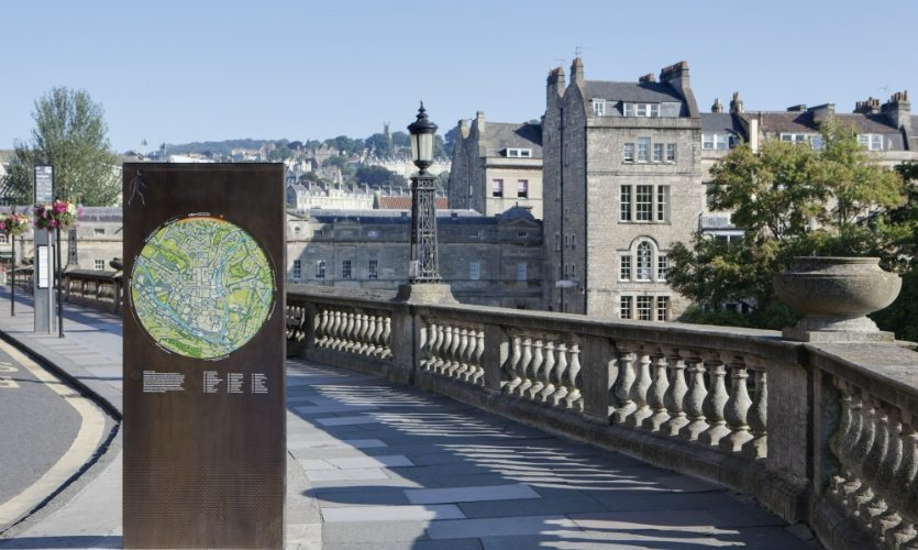 Photo of wayfinding in Bath.