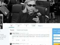 Hillary Clinton's twitter profile used to feature a photo of her using her Blackberry. However, she has since been criticized for having used personal email accounts for government business, thereby avoiding access-to-information laws in the process.