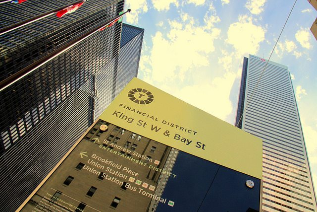Wayfinding in the Financial District. Photo by wyliepoon from the Torontoist Flickr Pool.